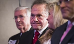 Roy Moore faces Democrat Doug Jones on 12 December for a place in the US Senate. On Thursday his campaign hit back at his accusers, declaring: 'Let the battle begin.'
