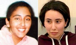 Princess Shamsa (left), who was snatched in Cambridge, and Princess Latifa