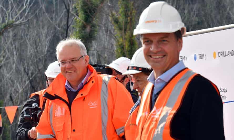 Australian prime minister Scott Morrison and energy minister Angus Taylor
