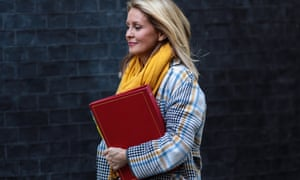 The work and pensions secretary, Esther McVey.