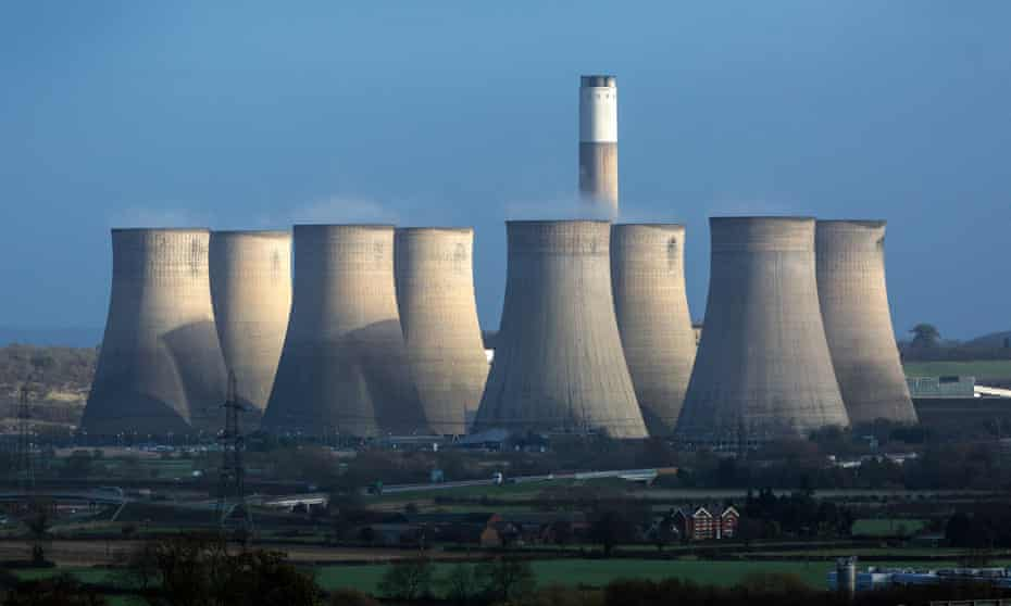 Ratcliffe-on-Soar coal-fired power station. The UK has pledged to phase out coal by 2025.