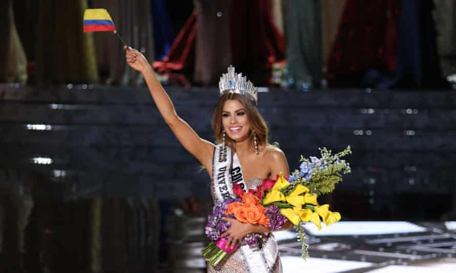 Gutierrez-Arevalo celebrates becoming the 64th Miss Universe