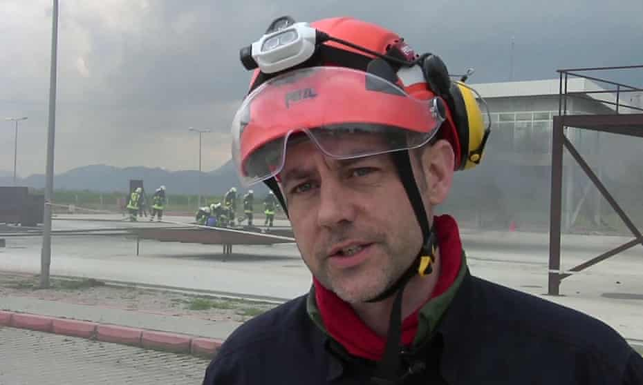 James Le Mesurier during training exercises in southern Turkey in 2015.
