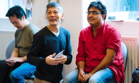 Sure to ruffle feathers … Majumdar, right, at the rehearsals for Pah-La.