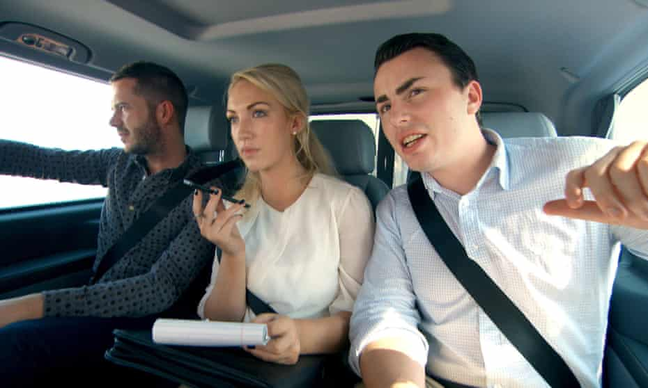 'One article said I was butchering women' … winner Leah Totton with Neil Clough and Alex Mills.