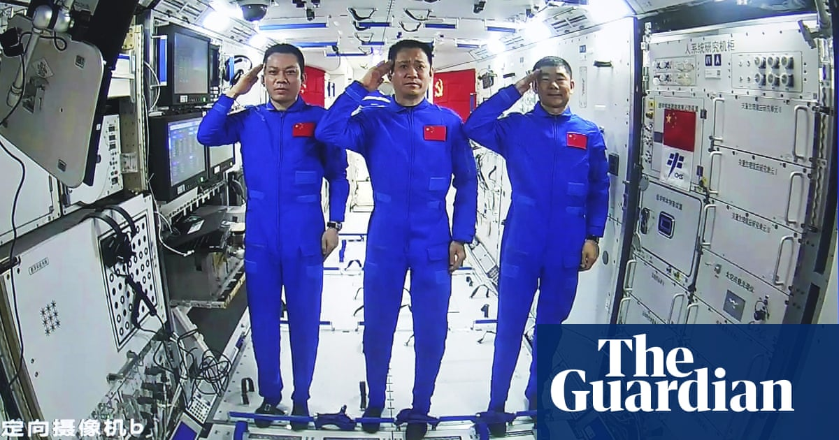 Astronauts at China's new space station conduct first spacewalk