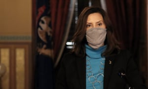 Michigan's governor, Gretchen Whitmer, has ordered a ban on indoor dining and organised sport to halt the spread of Covid-19.