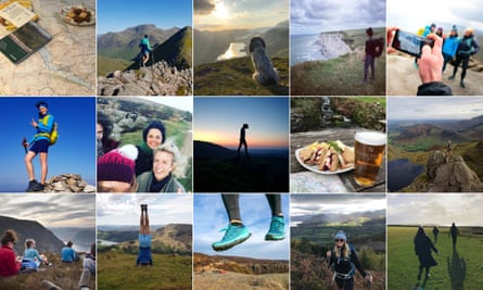 Instagram images from the Lake District, Peak District and Cornwall in England, the Scottish Highlands and Upper Normandy in France.