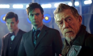 The 50th anniversary episode, Day of the Doctor, with Matt Smith, David Tennant and John Hurt