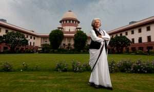 Indira Jaising at the Supreme court of India in New Delhi.