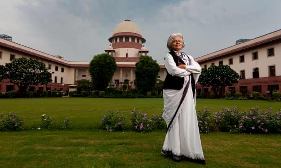 Indira Jaising at the Supreme court of India in New Delhi.