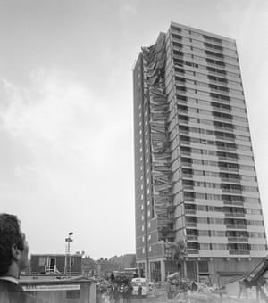 At around 6am on 16 May 1968, Mrs Ivy Hodge, a tenant on the 18th floor, leaned over her cooker and struck a match. Instantly, an explosion blew out the pre-cast concrete panels which formed the side of the building and the entire end of the block collapsed like a house of cards. Mrs Hodge - and gas cooker - survived.