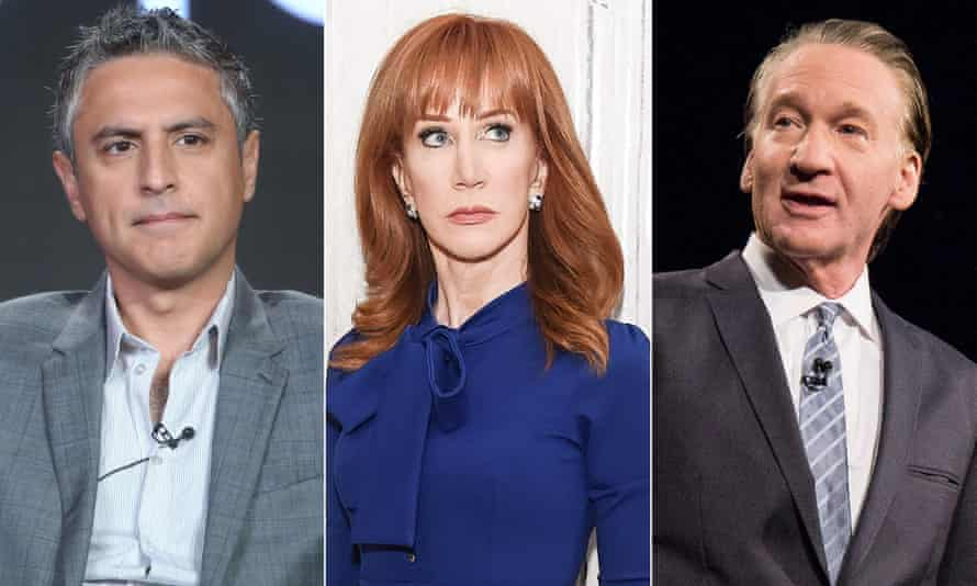 Reza Aslan, Kathy Griffin and Bill Maher.