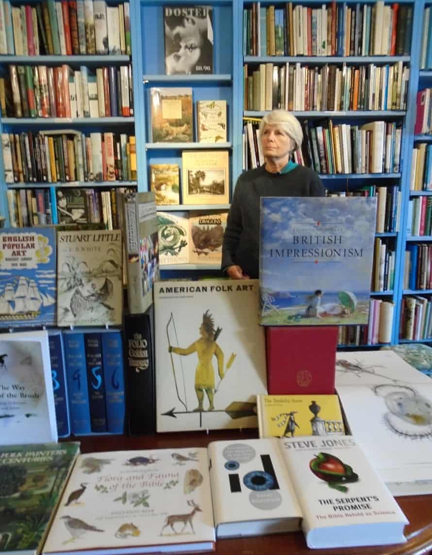 Broadleaf Books in Abergavenny run by Joanna Chambers, a secondhand bookshop