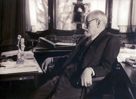 Freud in his study in 1937, two years before he died.