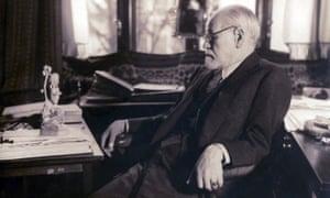 Sigmund Freud in his study, 1937