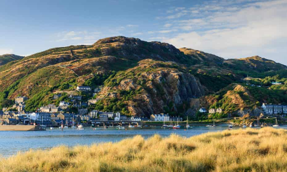 Barmouth seen from across the Mawddach estuary.