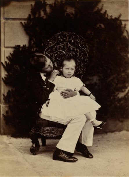 Victoria and Albert's children Prince Alfred and Princess Beatrice c1859.