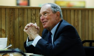 Bloomberg in Arkansas after adding his name to the primary ballot there earlier this month