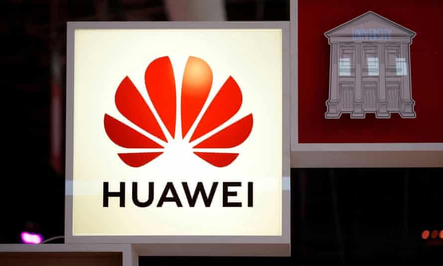 Logo of Huawei is seen at VivaTech fair in Paris