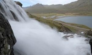Fáskrúðsfjörður waterfall on the road to Egilsstaðir