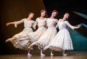 Yasmine Naghdi, Beatriz Stix-Brunell, Olivia Cowley and Natalia Osipova as the Romanov sisters.