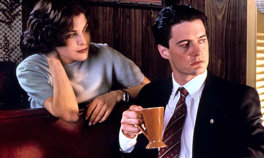 Sherilyn Fenn and Kyle MacLachlan in the original series of Twin Peaks, which debuted in April 1990.