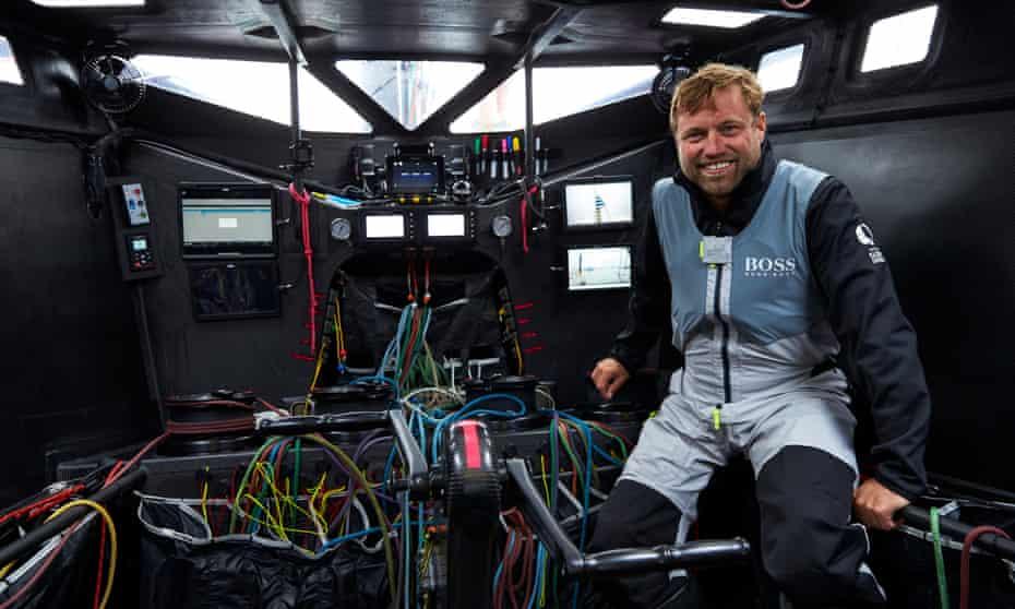 Alex Thomson in the Hugo Boss, IMOCA 60.