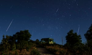 Geminids meteor shower in northern hemisphere.