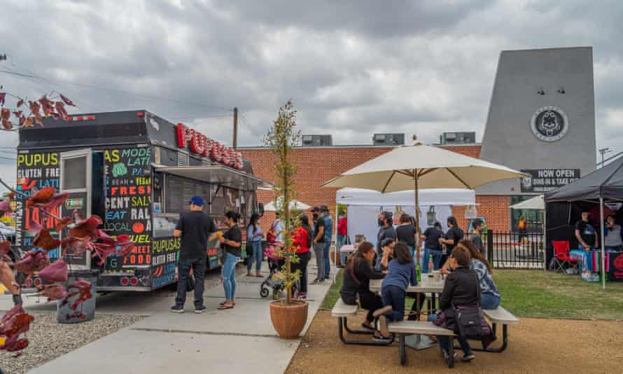 A block party in Bell, California, co-sponsored by Border of Brewing.