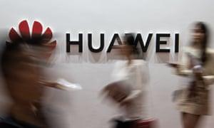 Huawei logo at Consumer Electronics Expo in Beijing