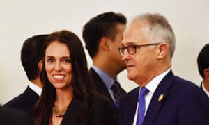 Jacinda Ardern and Malcolm Turnbull in Vietnam. It appears they did not meet for 'substantive' talks in Manila.