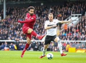 Mo Salah in action against Fulham