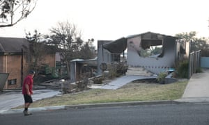 burnt out house in Tathra