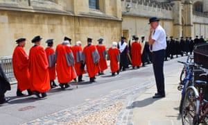 The University of Oxford Encaenia procession (for the distribution of honorary degrees).