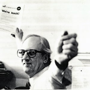 Derek Ingram, founder and editor of Gemini News Service, pictured at the time of Gemini's relaunch in 1983. (Archive ref: GEM/1/3/1/2)
