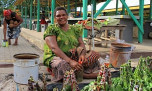 Gerehu market on the outskirts of Port Moresby, Papua New Guinea
