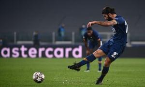 FC Porto's Portuguese midfielder Sergio Oliveira scores.