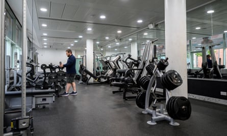 Leisure centre manager Ryan Walker inspects the facilities in the performance gym of the Manchester Aquatics Centre