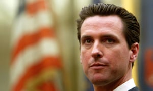 Gavin Newsom, the current California lieutenant governor and former mayor of San Francisco, has put the consequences of automation at the center of his campaign.