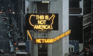 A Logo for America, 1987/2014, in Times Square, New York.
