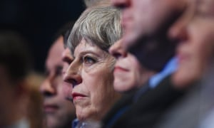 Theresa May at the Conservative conference in Manchester