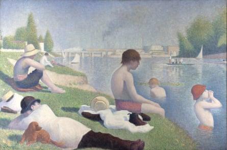 Bathers at Asnières, 1884, by Seurat.