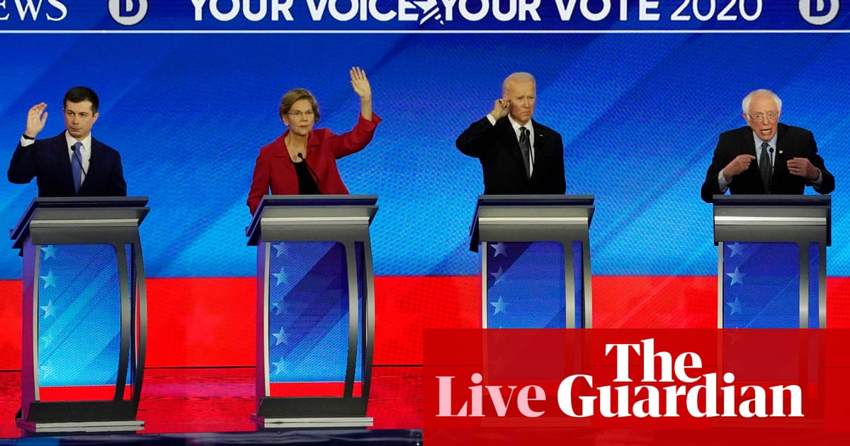 3500 - Democratic debate 2020: candidates in most tense debate yet ahead of crucial primary – live | US news