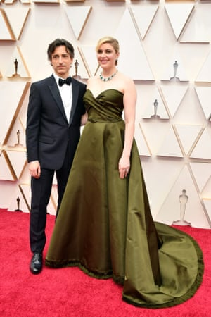 Noah Baumbach and Greta Gerwig attend the 92nd Annual Academy Awards