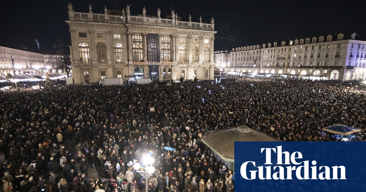 Sardines squeeze into Italian cities for biggest anti-Salvini protests yet | World news