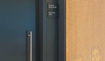 James Milner jokingly suggested a door be named after him – and so one was.