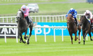 Phoenix of Spain and Jamie Spencer run out winners of the Irish 2,000 Guineas at the Curragh.