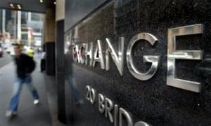 The Australian Stock Exchange building in Sydney