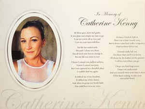 The poem written by Lee-Maria's husband Darren on the day Catherine died.